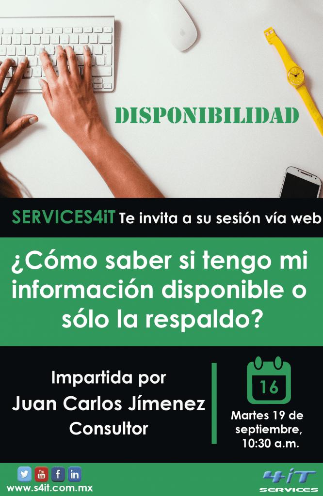 Webinar: ¿cómo saber si tengo mi información disponible o sólo la respaldo?